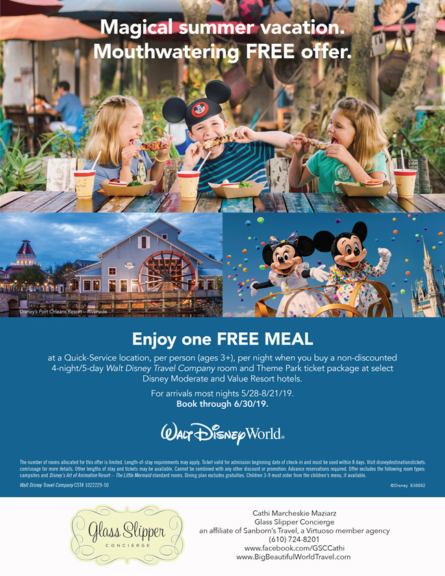 Walt Disney World One Free Meal